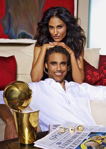 jeanene fox e il fratello, l'ex cestista NBA rick fox