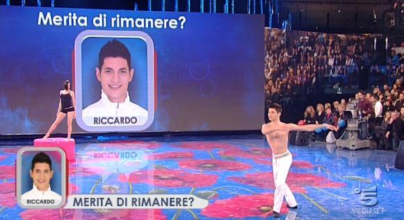 Foto Eliminazione Riccardo Riccio Amici