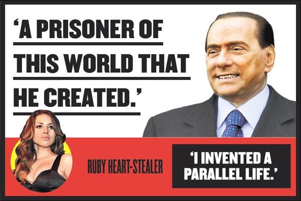 Berlusconi e il caso Ruby sulla prima pagine dei quotidiani mondiali
