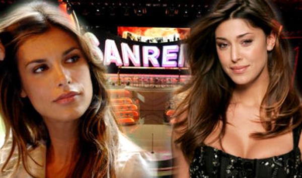 Belen Rodriguez ed Elisabetta Canalis vallette a Sanremo foto