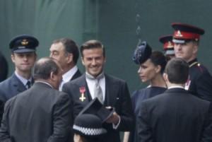 victoria e beckham al matrimonio reale Foto