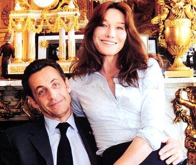 Carla Bruni e Sarkozy Foto