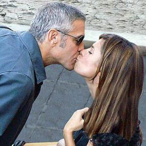 Elisabetta Canalis e George Clooney Foto