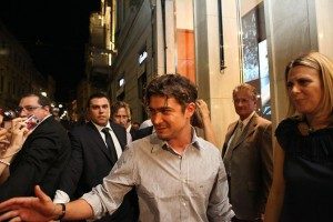 Foto di Riccardo Scamarcio ospite di Paul&Shark per Vogue Fashion's Night Out