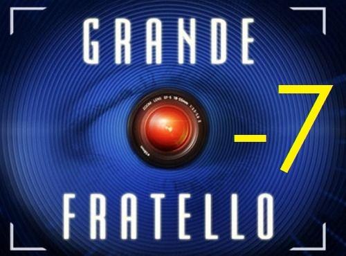 Logo Grande Fratello 7 giorni al via
