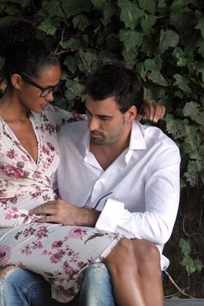 denny mendez con il compagno ciro giordano rossi ai tempi della gravidanza