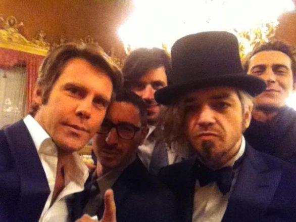 Foto di Emanuele Filiberto e Morgan alla sfilata Pitti Uomo