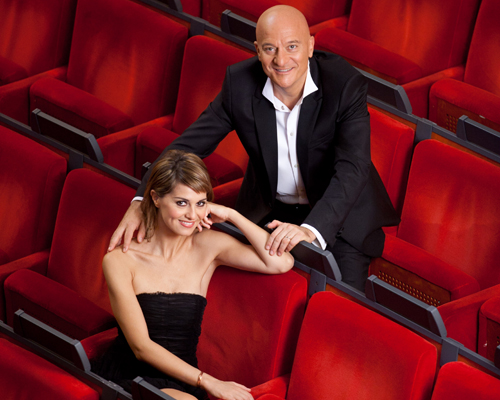Paola Cortellesi e Claudio Bisio, i conduttori