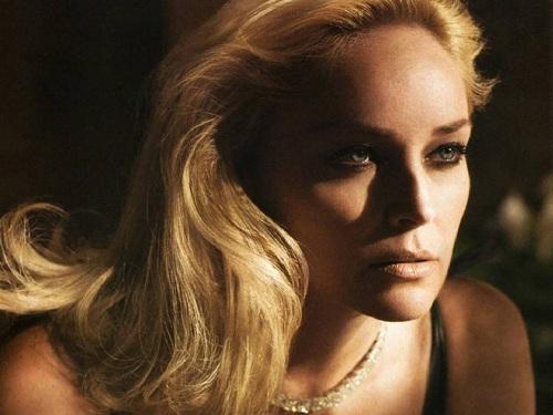 La bella attrice Sharon Stone