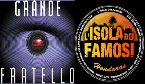 Foto logo Grande Fratello e Isola dei Famosi