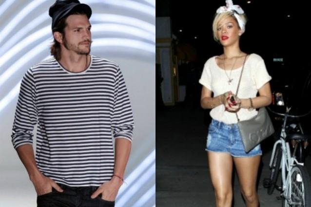 Rihanna e Ashton Kutcher relazione segreta