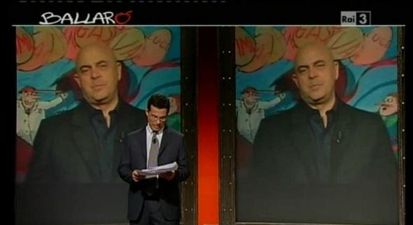Maurizio Crozza e Giovanni Floris Ballarò