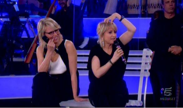 Foto di Maria De Filippi e Luciana Littizzetto ad Amici
