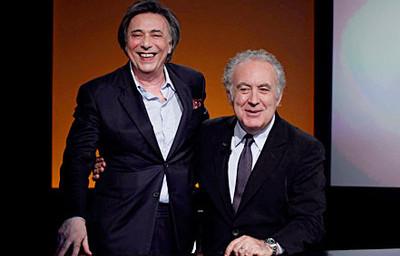 Michele Santoro e Carlo Freccero in Rai