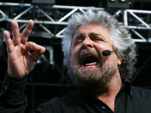 Il comico-politico Beppe Grillo