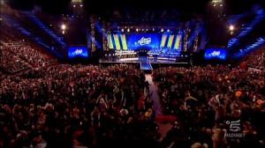 Foto del palco di Amici 11 all' Arena di Verona