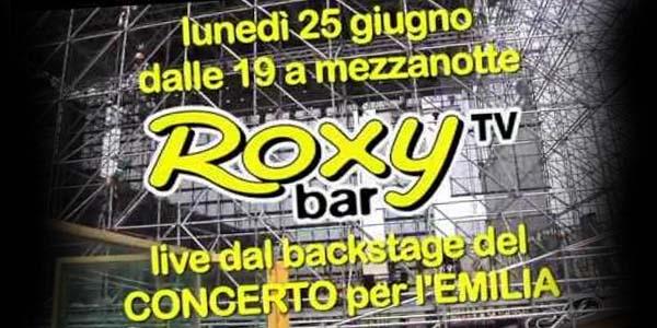 concerto per l'emilia rai1 roxy bar tv red ronnie