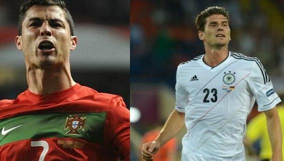 Foto di Cristiano Ronaldo e Gomez Euro 2012