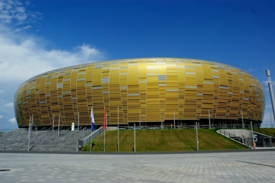 Lo Stadio di Danzica, scenario di Italia-Spagna