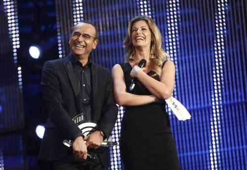 Carlo Conti e Vanessa Incontrada su Rai1