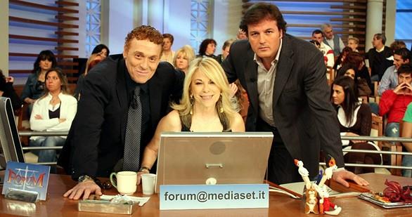 Foto di Rita Dalla Chiesa, Fabrizio Bracconeri e Marco Senise a Forum