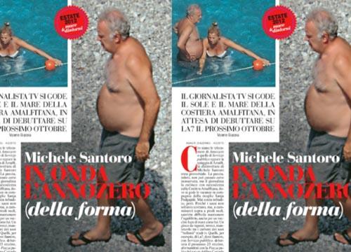 Michele Santoro al mare prima di approdare a La