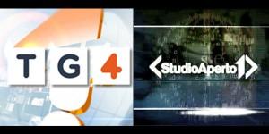 tg4 studio aperto rete quattro italia uno novità telegiornale logo grafica