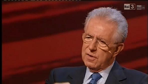 Mario Monti ospite a Che tempo che fa 25 novembre