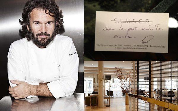 Carlo Cracco e il suo ristorante a Milano