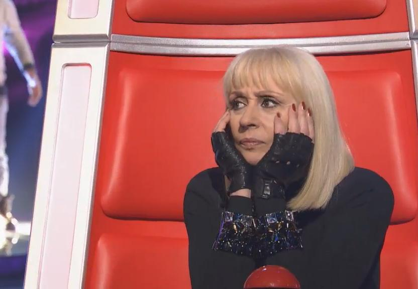 foto di raffaella carrà a the voice
