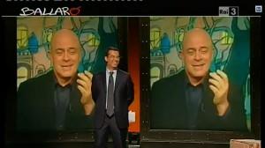 Maurizio Crozza nella copertina di Ballarò