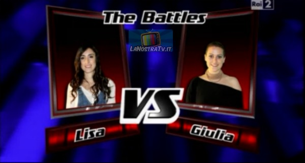 Foto di Lisa vs Giulia The Voice of Italy