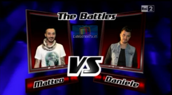 Foto di Matteo vs Daniele The Voice of Italy
