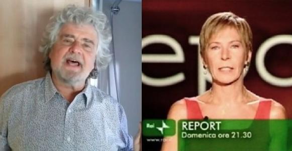 Beppe Grillo contro Report e Sabrina Giannini