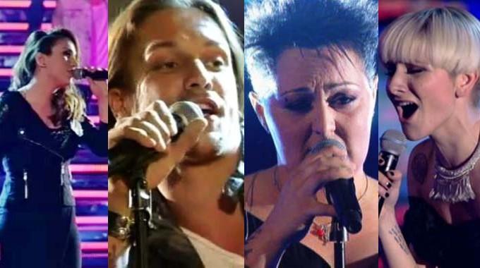 foto dei quattro finalisti di the voice
