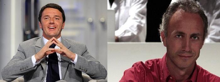 Matteo Renzi e marco Travaglio
