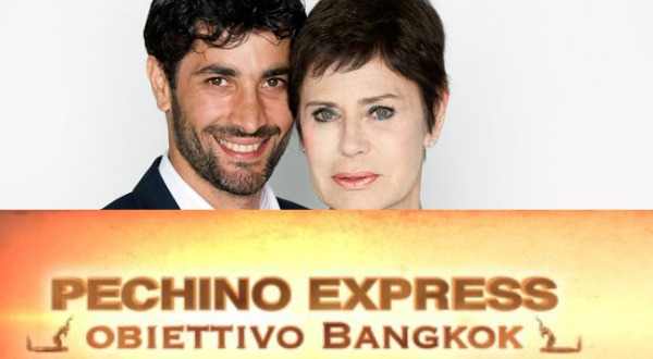 Foto di Corinne Clery e Angelo Costabile Pechino Express