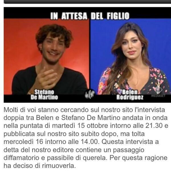Belen e Stefano censurati a Le Iene