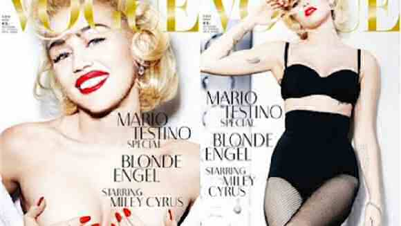 miley cyrus su vogue germany