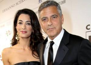 foto George Clooney e Amal Alamuddin