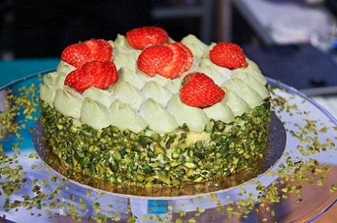 foto torta al pistacchio