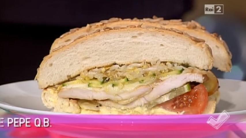 foto panino al pollo gourmet