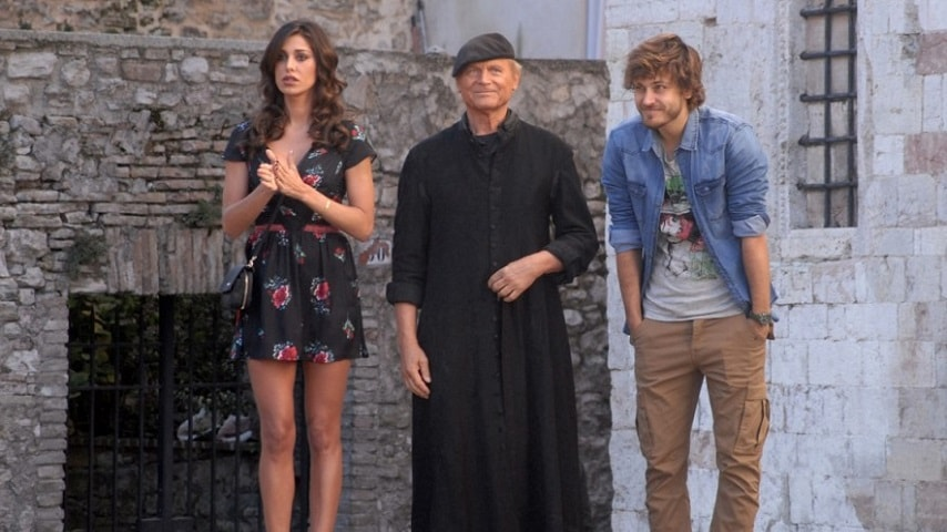 foto Belen Rodriguez, Terence Hill e Andres Gil in Don Matteo 10