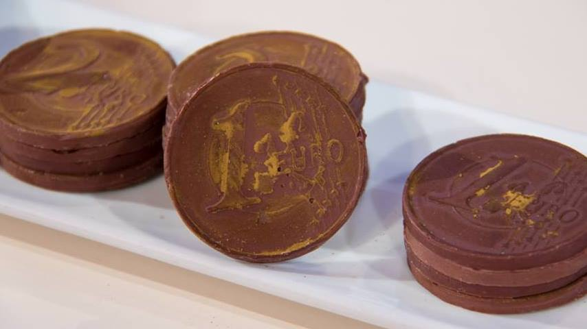 foto monete di cioccolato
