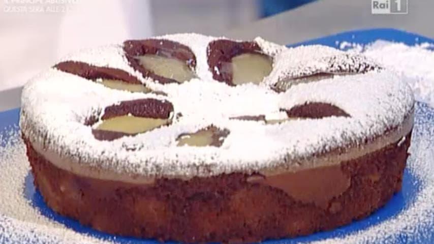 foto torta alle pere e cioccolato