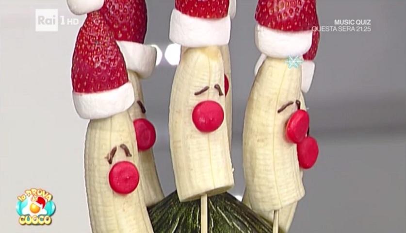 foto spiedini alla frutta di Natale