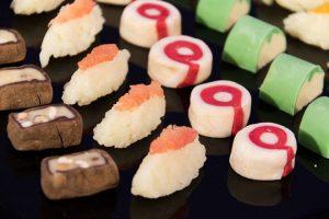 foto chocolate sushi