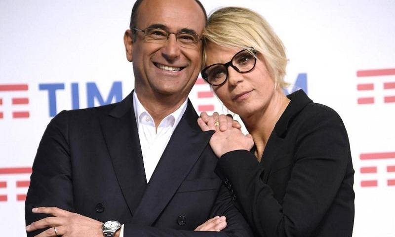 Foto Carlo Conti e Maria De Filippi