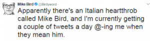foto mike bird tweet
