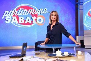 foto Paola Perego Parliamone Sabato rai1 studio